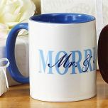 Mr. and Mrs. Personalized Mugs