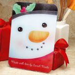 Snowman Glass Cutting Board