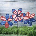 Patriotic Flower Spinners