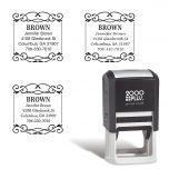 Border Square Address Stamp