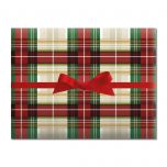 Classic Plaid Holiday Jumbo Rolled Gift Wrap