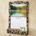Bronze Leaves Wire Metal  Calendar Holder