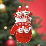 Mitten Family Personalized Ornament