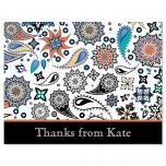 Color Paisley Thank You Cards