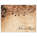 Sheet Music Personalized Note Cards - Set of 24