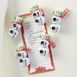 Jingle Bell Snowman Magnets