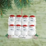 Owl Family Personalized Christmas Ornaments