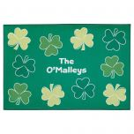 Shamrock Personalized Doormat