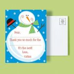 Christmas Custom Thank You Postcards