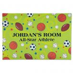 Sports Balls Personalized Doormat