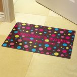 Polka Dot Personalized Doormat