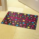 Polka Dot Personalized Doormat