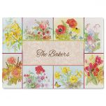 Beautiful Flowers Personalized  Cutting Board