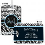 Elegant in Black Personalized Bag Tag