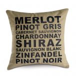 Wine Words Decorative Pillow