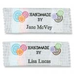 Hand Made By Personalized Sewing Labels