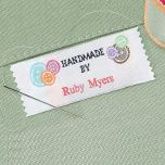 Hand Made By Personalized Sewing Label