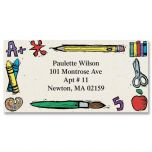 Class Time Border Address Labels