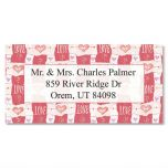 Hearts & Love  Border Address Labels
