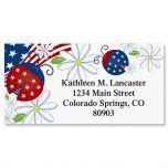 Patriotic Ladybug Border Address Labels