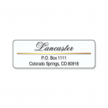 Address Label with Gold Foil Accent Line-Clear-C118