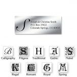 Silver Foil Initial Classic Address Labels