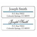 Address Label with Blue Foil Accent Line