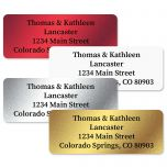 Foil Assortment Return Address Labels  (4 Colors)