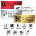 Initial Foil Classic Return Address Labels  (4 Colors)