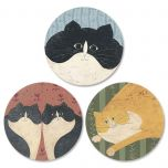 Cozy Cats  Envelope Seals   (3 Designs)