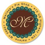 Pearls Initial Round Address Labels