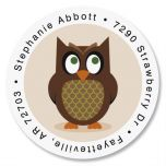 Owl Round Return Address Labels