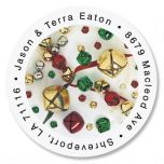 Jingle Bells Round Address Labels