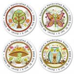 Live Simply Round Address Labels   (4 Designs)