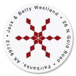 Snowflake & Argyle  Round Address Labels