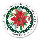 Winter Bouquet  Round Address Labels