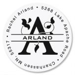 Last Name Initial Round Address Label
