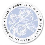 Rose Branch Round Address Labels