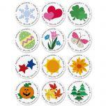 Year-Round-Round Address Labels  (12 Designs)