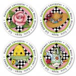 Mary Engelbreit® Round Address Labels  (4 Designs)