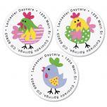 Little Chickee Round Return Address Labels  (3 Designs)