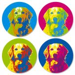 Pop Art Puppies Envelope Seals