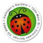 Ladybug Round Return Address Labels