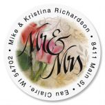 Mr. & Mrs. Round Return Address Labels