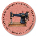 Love of Sewing Round Return Address Labels