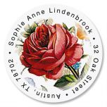 Victorian Roses Round Return Address Labels