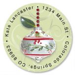 Winterberry Round Return Address Labels