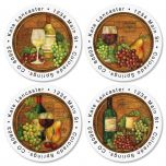 Napa Barrels  Round Address Labels