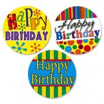 Happy Birthday Envelope Seals  (3 Designs)
