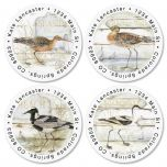 Seabirds Round Address Labels  (4 Designs)